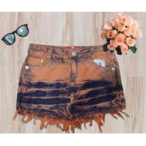 Saia Jeans De Bico Destroyed Desfiada Verão