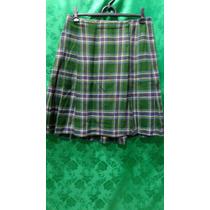 Saia Feminina Xadres Verde Escocesa Tm/42