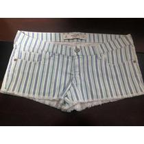 Short Abercrombie & Fitch Jeans Listrado - Tamanho Eua: 8