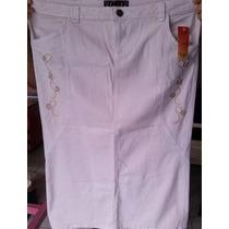 Saia Jeans Evangélica Longa Bordada G1 G2 G3 Barato 54,90