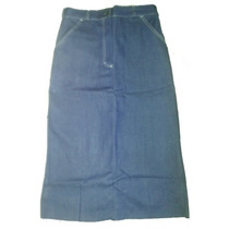 Saia Jeans Azul Para Uniformes - Lote 10 Peças