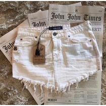 Saia Branca Jeans John John