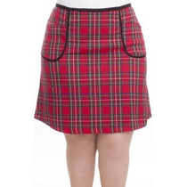 Saia Kilt Xadrez Plus Size Em Oxford Tamanhos 46 48 50 52