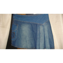 Mini-saia Em Jeans Nova C/ Etiqueta Tam 40