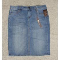 Saia Jeans Com Stretch Tam 40 - Importada Usa