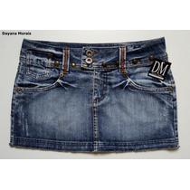Saia Jeans C/ Tachas - Dm
