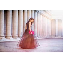 Saia Midi Tule Longa Bailarina Fashion Ano 50 Moda Tendencia