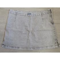 Saia Jeans Artifício C Strech Tam 40 Sem Bolsos