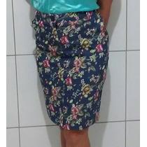 Saia Social Moda Evangelica Floral Executiva Secretaria Mães