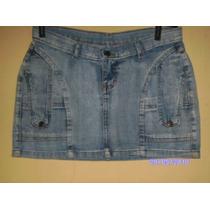 Sa011 - Mini Saia De Jeans Manequim 38