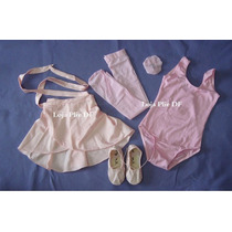 Kit Roupa Uniforme Figurino Ballet Para Aulas Infantil