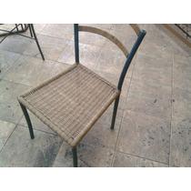 Cadeira Em Ferro Com Junco Sintetico Para Litoral Fazeda Etc