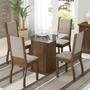 Sala De Jantar Mesa E 4 Cadeiras Madesa Ariadne Rustic/sued