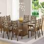 Sala De Jantar Mesa E 8 Cadeiras Madesa Vívian