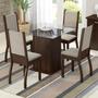 Sala De Jantar Mesa E 4 Cadeiras Madesa Ariadne Tabaco/sued