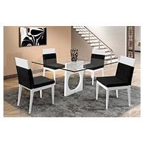 Sala De Jantar 4 Cadeiras + Base Da Mesa Sem Vidro