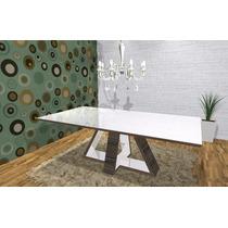 Mesa Jantar Retangular Design 1,83 X 1,10 Mdf Maciço, Nova