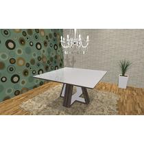 Mesa Jantar Quadrada Design 1,40 X 1,40 Mdf Maciço, Nova