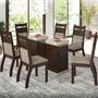 Conjunto Para Sala De Jantar Mesa E 6 Cadeiras Viero Isabely
