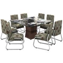 Conjunto De Mesa Com 8 Cadeiras Helena - Somopar