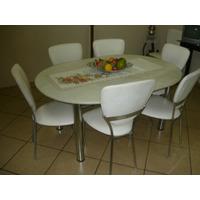 Jogo Sala De Jantar Mesa C/6 Cadeiras - Cod.099/20669