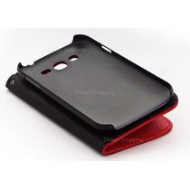 Capa Case Carteira Vermelho Com Preto S.sung Grand Dgt-i9082