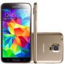 Smartphone Samsung Galaxy S5 G900 Dourado -4g, 16gb