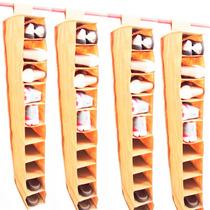 Kit 4 Sapateiras Suspensa 10 Nichos Para Guarda Roupa Closet