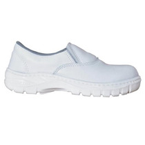 Sapato Branco De Couro Cartom Epi Açougue Enfermagem Medico