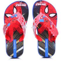 Chinelos Ipanema Homem Aranha Pow - Azul/vermelho/branco