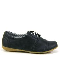 Sapato Feminino Oxford Poney F4001 - Preto - Olfer Calçados