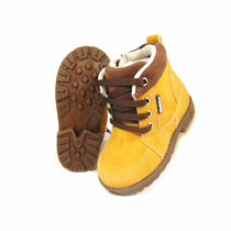 Botinha Infantil Masculino Estilo Timber Boots Boy Maninhos