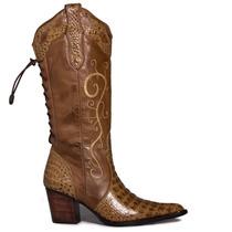 Bota Country Em Couro Feminina Capelli Boots