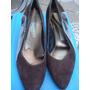 Sapato Tipo Scarpin Em Camurça Made In Italy Nº 38