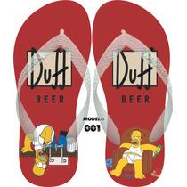 Sandalias Chinelos Personalizados Havaianas Os Simpsons