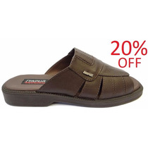 20%off Chinelo Masculino Itapuã Couro 4508s13 - Marrom