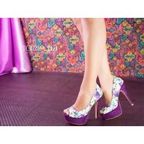 Sapatos Plataforma Meia Pata Salto Fino Torricella 145,90!!