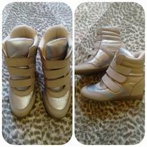 Sneaker Dunes Rosê Com Prata Envelhecido N°34
