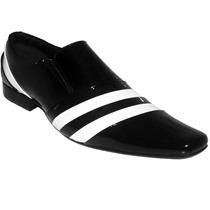 Sapato Social Couro Stilo Italiano Envernizado Dhl Calçados