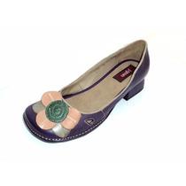 Sapato Retrô Feminino Flor - Boneca