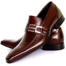 Sapato Social Masculino Bigioni Preto Solado Em Couro Luxo!