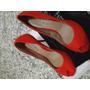 Sapato Peep Toe Fiveblu Mary Vermelho - N° 36