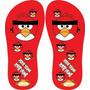 Chinelo Personalizado Angry Birds - Frete Grátis