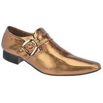 Sapato Ebenezer Cobra Ouro Luxo.couro Legitimo.largospel.com
