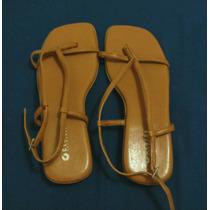Sandália Rasteirinha N 34 Usada Centra Calçados