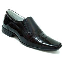 Sapato Masculino Couro Envernizado Confortavel Dhl Calçados!