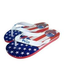 Polo Shoes Chinelo Azul & Vermelho 41-42 Temos Outras Marcas