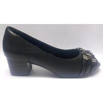 Sapato Feminino Salto Grosso Baixo Retro