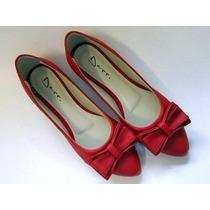 Sapatilha Salomé Espadrille Bico Fino Slippers Laço Vermelha
