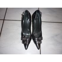 Arezzo - Sapato Scarpin Preto Couro Tdo Forrado 37